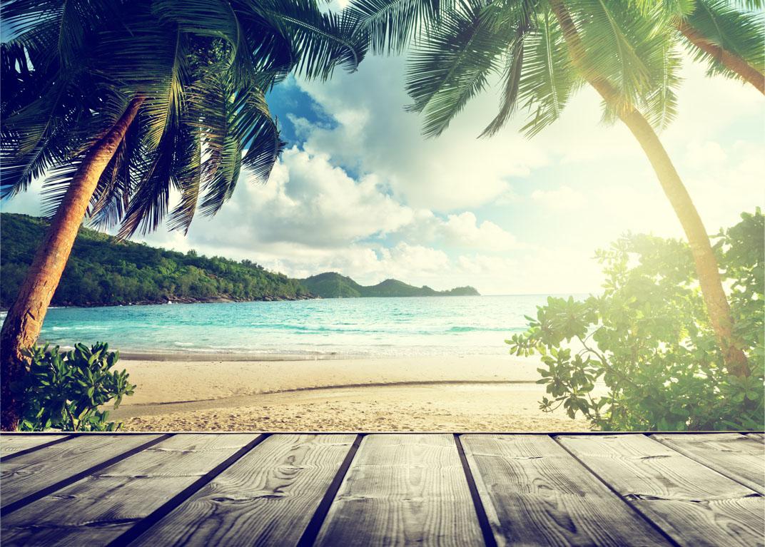 Seychellen strand en houten pier