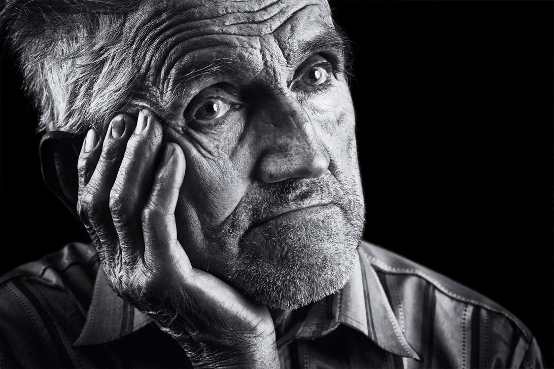 Expressieve senior portret