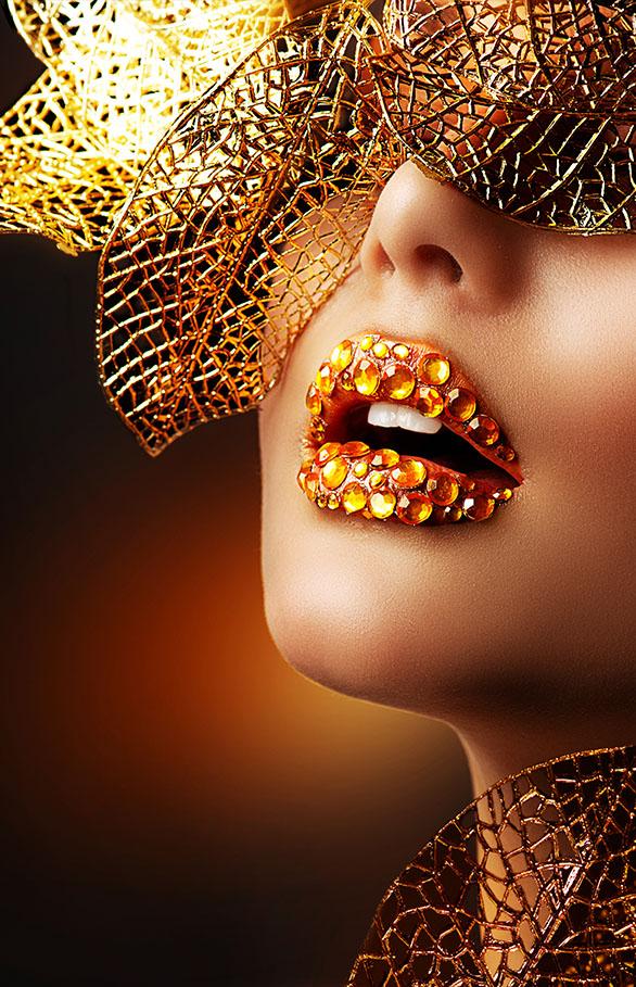 Luxe gouden make-up