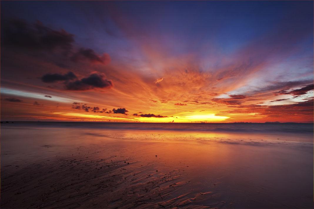 Tropische zee zonsondergang