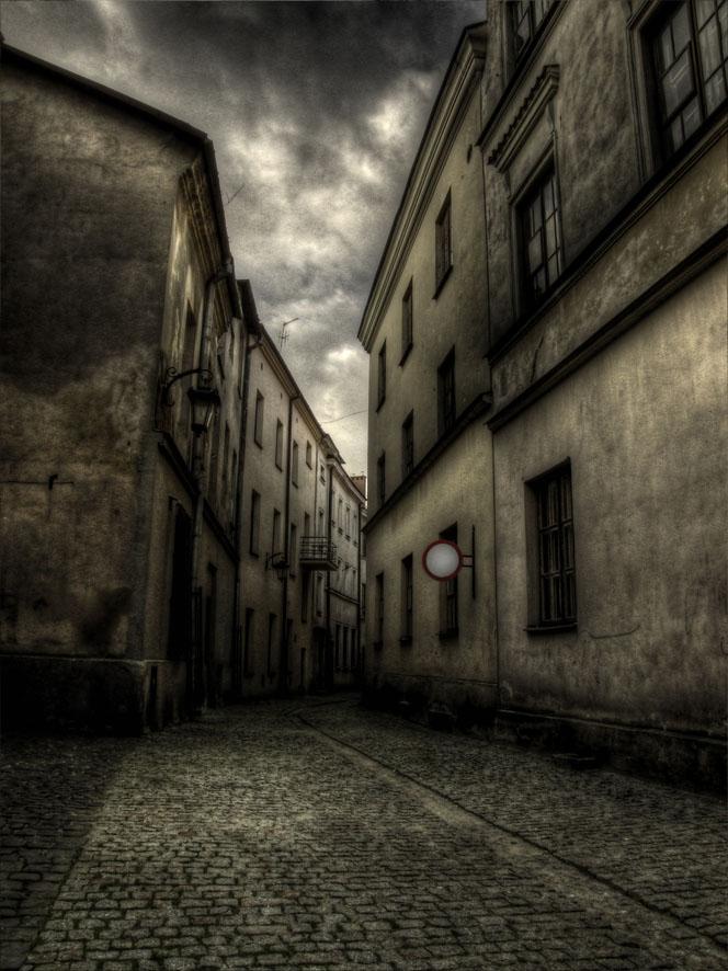Vintage architectuur van de oude stad