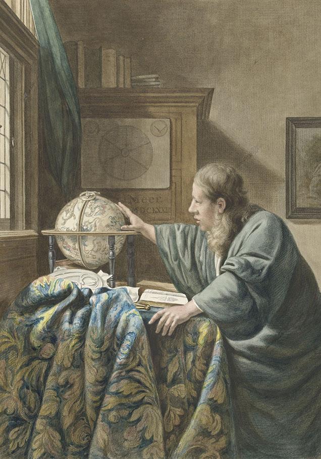 De astronoom, Abraham Delfos, naar Johannes Vermeer, 1794
