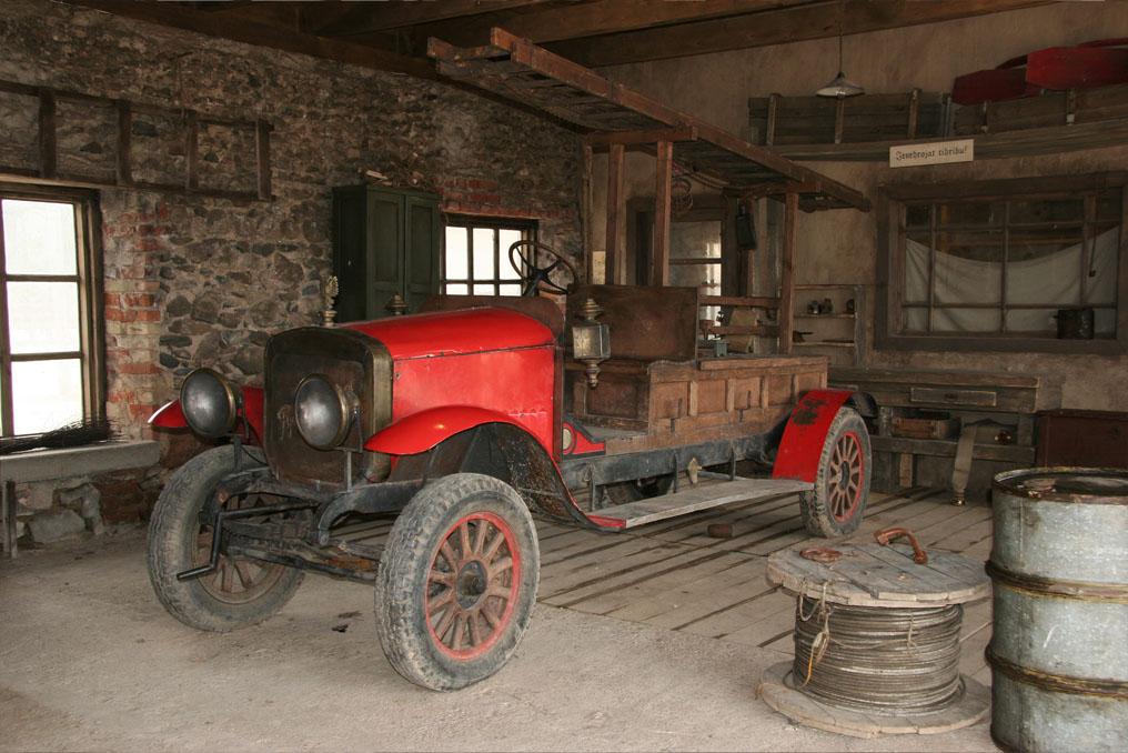 Antieke brandweerwagen