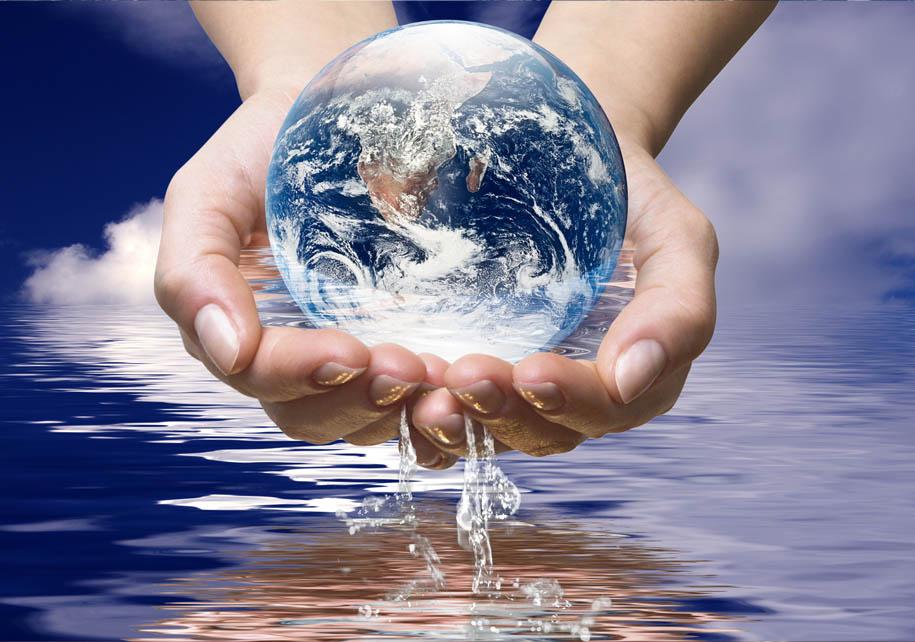 Water van de oceaan van de wereld