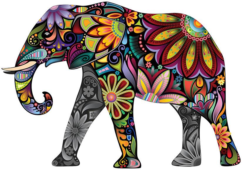 De vrolijke olifant