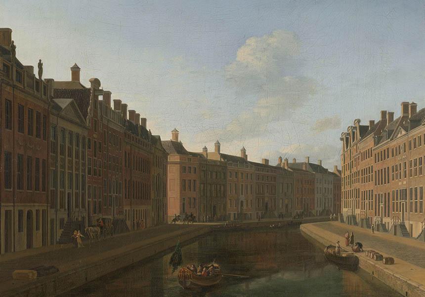 Gezicht op de Gouden Bocht in de Herengracht, Gerrit Adriaensz. Berckheyde, 1685